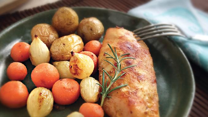 frango grelhado com cenoura